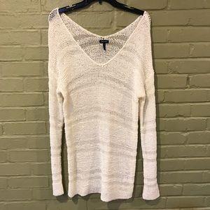 Splendid White Knit Tunic